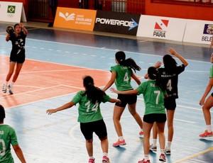 Time feminino de handebol do Tocantins garante vaga nas semifinais dos Jogos Escolares (Foto: Divulgação/Seduc)
