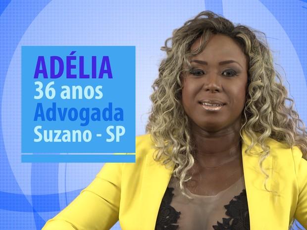 Adélia é advogada e tem 36 anos (Foto: Globo/Divulgação)
