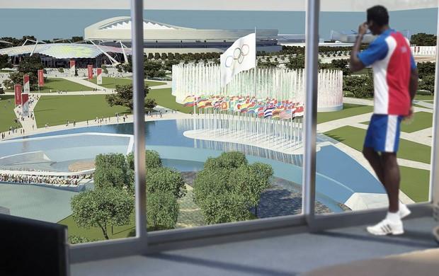 Projeto conceitual da Vila Olímpica de Madri 2020 (Foto: Divulgação)