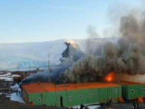 Estação Antártica Comandante Ferraz (Foto: Reprodução Globo News)