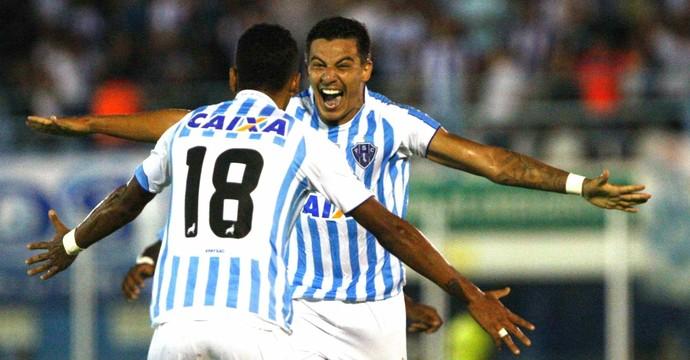 Ayrton marcou o gol da vitória do Paysandu (Foto: Akira Onuma/O Liberal)