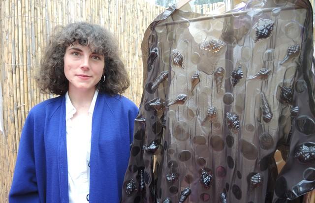Vanessa Schindler, da Suíça, vencedora da competição principal de moda. (Foto: Carlos Augusto Santos)