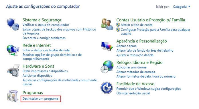 Acesse o menu de desinstalação pelo Painel de Controle (Foto: Reprodução/Paulo Alves)