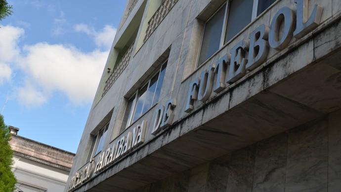 Sede da Federação Paraibana de Futebol (Foto: Phelipe Caldas / GloboEsporte.com/pb)