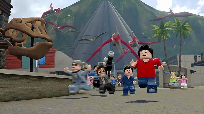 Parque dos Dinossauros estará aberto para visitação em LEGO Jurassic World (Foto: Reprodução/YouTube)