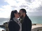 Fora do Carnaval, Gracyanne e Belo curtem clima romântico em Portugal