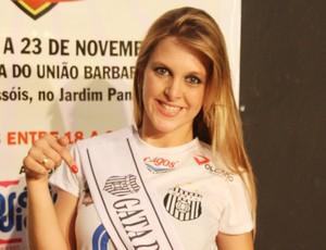Thairine Cristina, musa do União Barbarense no Paulistão 2013 (Foto: Divulgação/UniãoBarbarense)