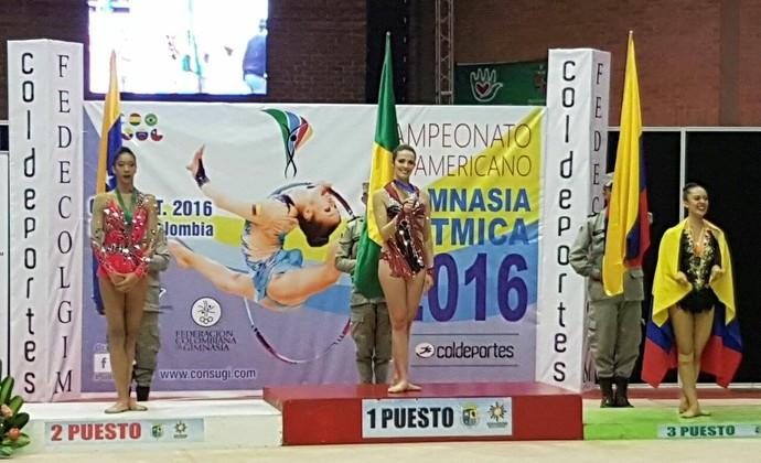 Natalia Gaudio ginástica rítmica sul-americano (Foto: Divulgação)