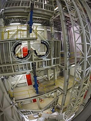 Visão em grande angular da nova torre  (Foto: Agência Força Aérea)