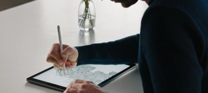 iPad Pro tem como grande destaque a Apple Pencil. Acessório é vendido separadamente (Foto: Reprodução/Apple) (Foto: iPad Pro tem como grande destaque a Apple Pencil. Acessório é vendido separadamente (Foto: Reprodução/Apple))