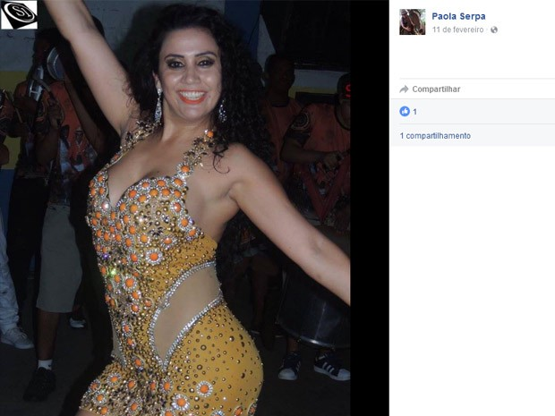Paola desfilaria pela Imperatriz Dona Leopoldina, de Porto Alegre (Foto: Reprodução / Facebook)