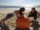 Treinamento funcional no Jardim de Alah (Sonia Campos/RBS TV)