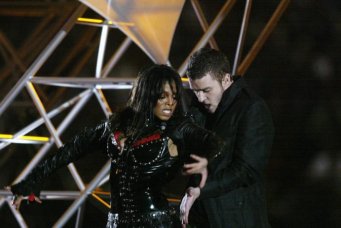 Janet Jackson com o Justin Timberlake superbowl 2004  (Foto: Donald Miralle / Getty Images)