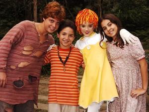 Ator atuou no Sítio do Picapau Amarelo ao lado de Isabelle Drummond (Foto: TV Globo / João Miguel Júnior)