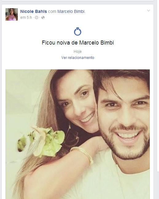 Nicole Bahls altera status de relacionamento em rede sociai (Foto: Reprodução/Facebook)