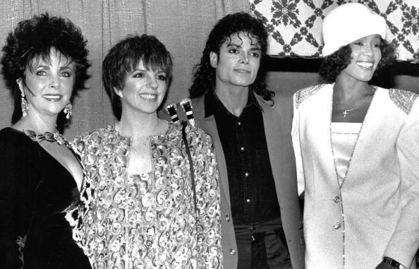 Elizabeth Taylor, Liza Minelli, Michael Jackson e Whitney Houston (Foto: .)