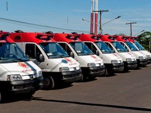 Serviço de Atendimento Móvel de Urgência (Samu) em Mato Grosso, MT, Cuiabá, ambulâncias (Foto: Mayke Toscano/Secom-MT)