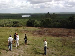 Visita do CEDH a aldeia flagrou área desmatada após incêndio criminoso (Foto: Divulgação/MPF-PB)
