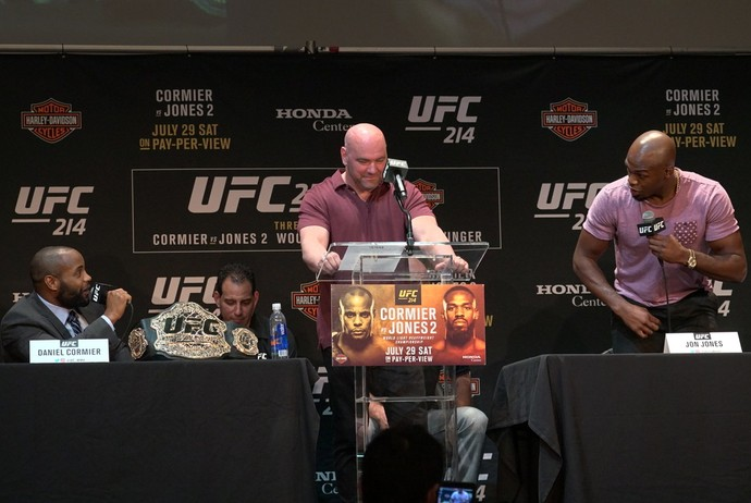 Daniel Cormier x Jon Jones coletiva UFC 214 (Foto: Evelyn Rodrigues)