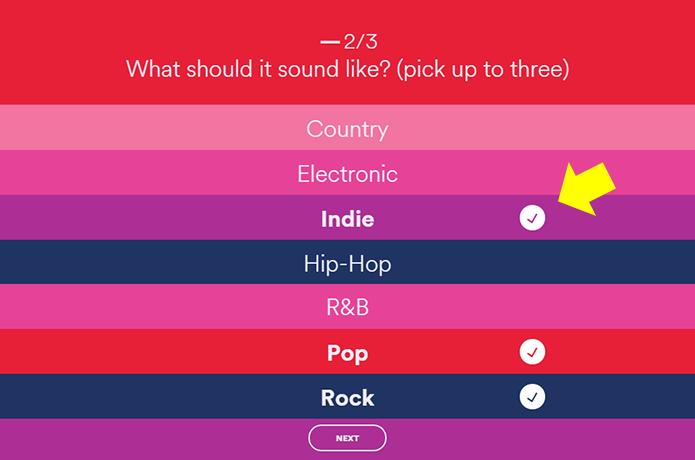Escolha até três gêneros musicais (Foto: Reprodução/Paulo Alves)