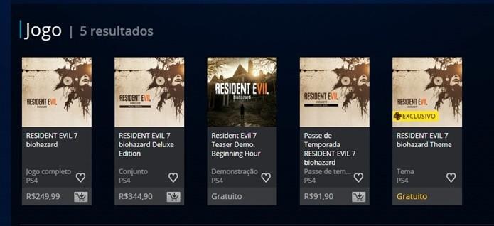 Resident Evil 7 chega em versão simples ou acompanhado de DLCs (Foto: Reprodução/Felipe Demartini)
