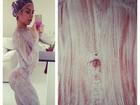 Graciella Carvalho posta foto e mostra corpo coberto de descolorante