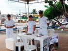 Forças Armadas informam baianos (Juliana Almirante/G1)