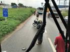 Nove universitários ficam feridos em colisão com ônibus na BR-116, no CE