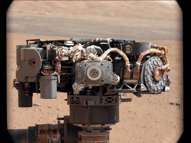 Espectrômetro é a parte do Curiosity responsável por medir substâncias químicas no solo (Foto: Nasa/JPL-Caltech/MSSS)