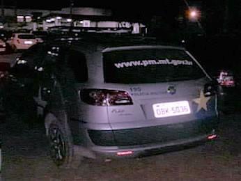 Carro da PM em Sinop (Foto: Reprodução/TVCA)