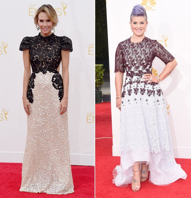 [620] Emmy 2014 Rendas Keltie Knight e Kelly Osbourne (Foto: Getty Images)