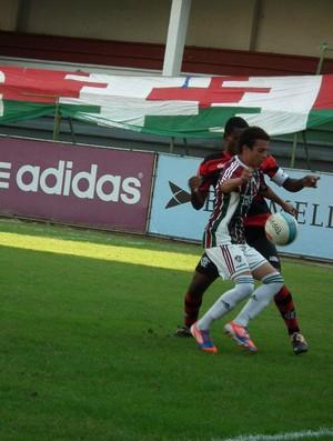 Atacante do Fluminense, Gabriel Vasconcelos em jogo contra o Fla, em 2012 (Foto: Gabriel Vasconcelos/facebook)