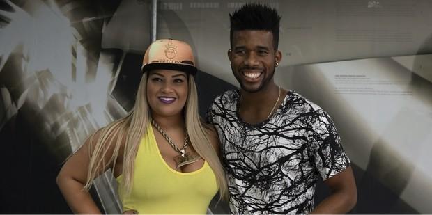 Mulher Filé e Adalberto 'Choque' (Foto: EGO)