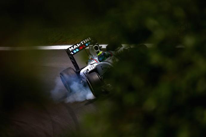Felipe Massa em ação no GP do Brasil de Fórmula 1 (Foto: Getty Images)