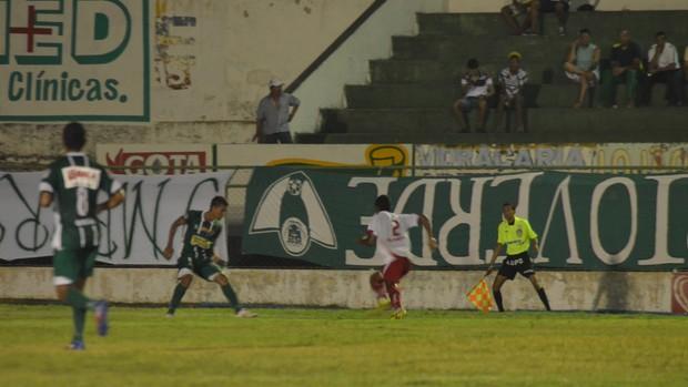 Sergipe não conseguiu furar bloqueio do Lagarto (Foto: Thiago Barbosa)