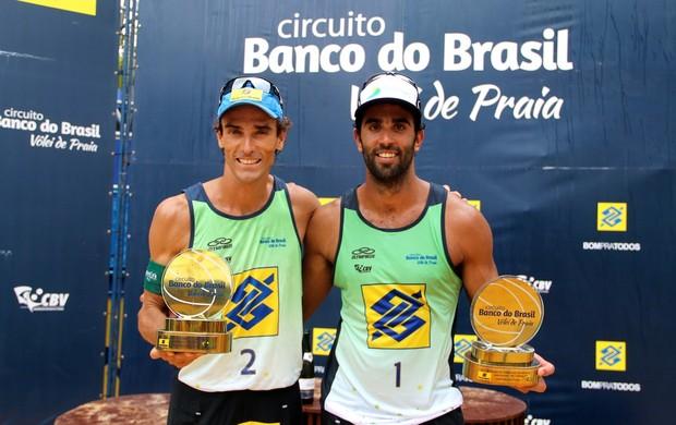 Pedro Solberg e Emanuel Paraíba Vôlei de Praia (Foto: CBV/Divulgação)