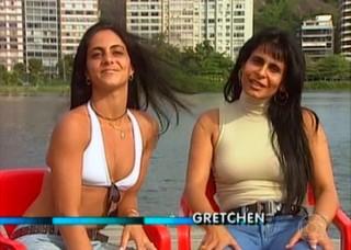Thammy Miranda e Gretchen (Foto: Reprodução/TV Globo)