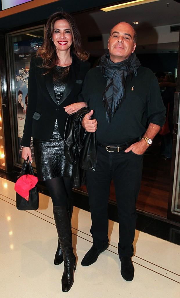 Luciana Gimenez e o marido, Marcelo de Carvalho (Foto: Manuela Scarpa/ Brazil News)