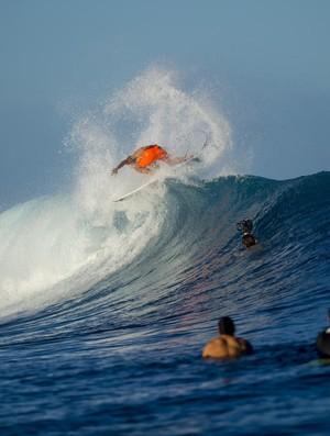 Filipe Tioledo admitiu não ter tanta experiência em J-Bay, mas apostou em um surfe clássico para sair vitorioso (Foto: KIRSTIN/WSL )