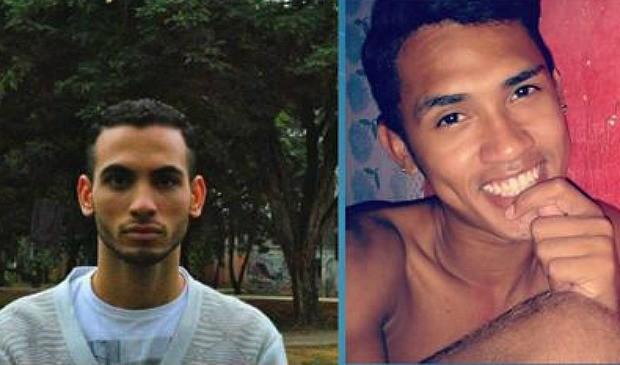 Universitário Saulo Ferreira Tavares e o vendedor Jhony Lima Fernandes foram morto a facadas no espírito santo (Foto: Reprodução/TV Gazeta)