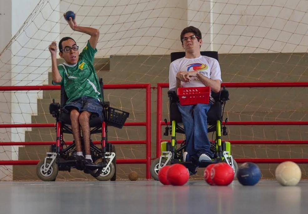 Campeonato Acreano de Bocha Adaptada ocorre no ginásio Álvaro Dantas (Foto: Alexandre Noronha/Secom)