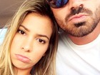 Adriana e Rodrigão fazem 'caras de triste' em foto