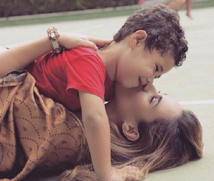 Wanessa e o filho José Marcus (Foto: Arquivo Pessoal)