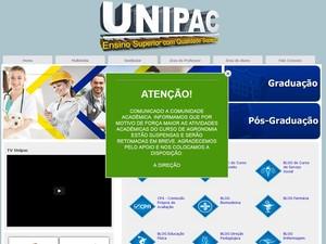 Alunos contestam suspensão de aulas em campus de Uberlândia (Foto: Divulgação/Site Unipac)