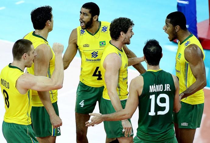 vôlei brasil e EUA Liga Mundial (Foto: FIVB)