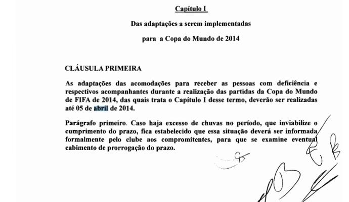 Termo de Ajustamento de Conduta no qual mostra a promessa do Inter em corrigir os problemas (Foto: Reprodução)