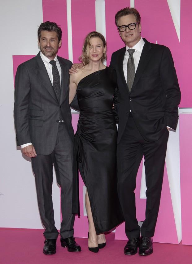 Renée Zellweger entre Patrick Dempsey e Colin Firth (Foto: Getty Images)