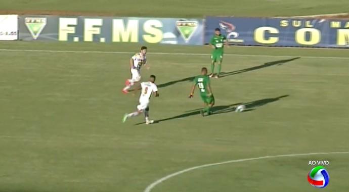 Sete de Dourados x Novo estádio Douradão (Foto: Reprodução/TV Morena)
