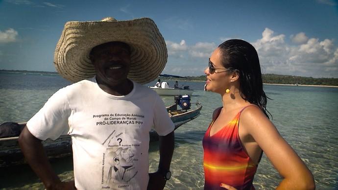 'Pé na Pista' faz um passeio pelas piscinas naturais de Boipeba (Foto: TV Bahia)