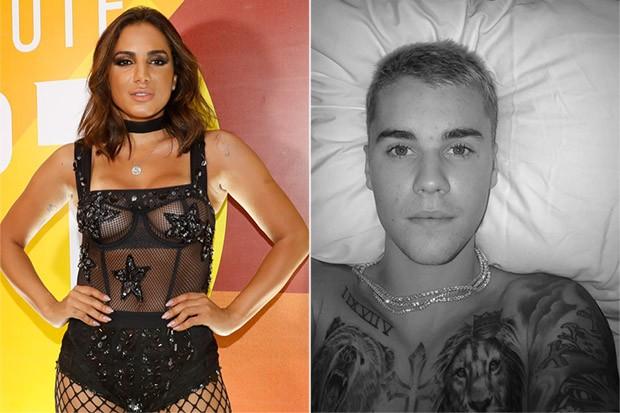 Anitta e Justin Bieber (Foto: Divulgação/camarote1 / Reprodução Instagram)